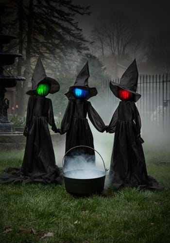 Set of Three 4ft Holding Hands Witches