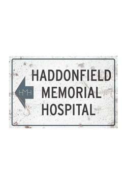 Halloween 2 Haddonfield Memorial Hospital Metal Sign