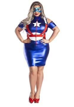 Captain America Plus Size Costume for Women