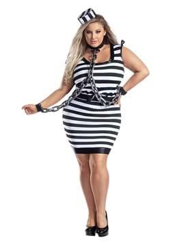 Plus Size Sexy Jailbird Costume for Women