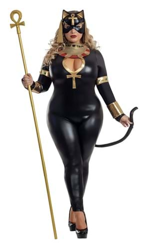 Plus Size Womens Egyptian Catsuit Costume