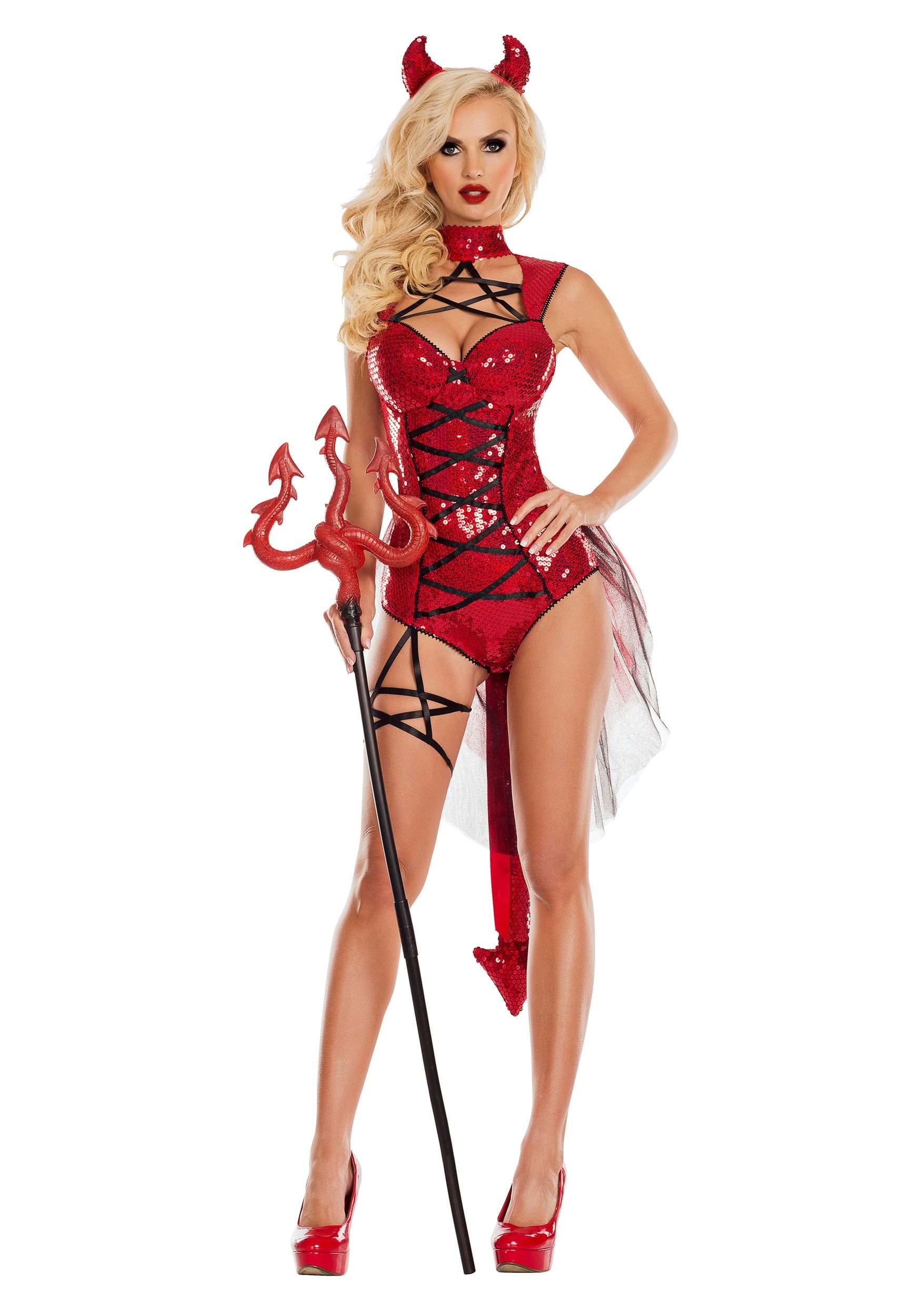 pentagram devil women's costume