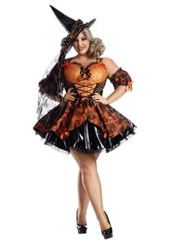 Women's Plus Harvest Witch Costume