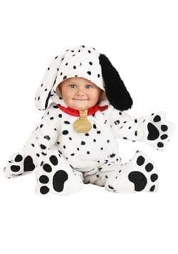 Infant Plush Dalmatian Puppy Jumpsuit
