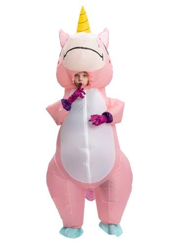 Inflatable Child Pink Unicorn Costume