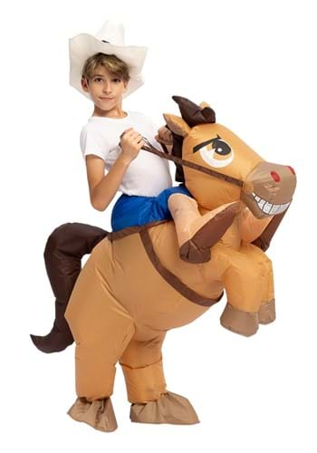Inflatable Child Horse Ride-On Costume