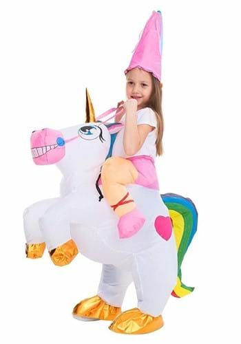 Inflatable Kids Unicorn Ride On Costume