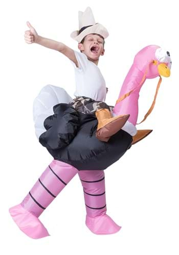 Inflatable Child Ostrich Ride-On Costume