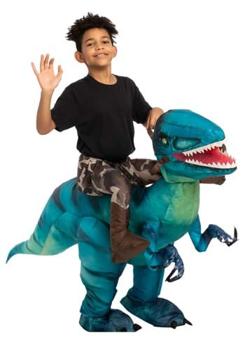 Inflatable Child Raptor Ride-On Costume