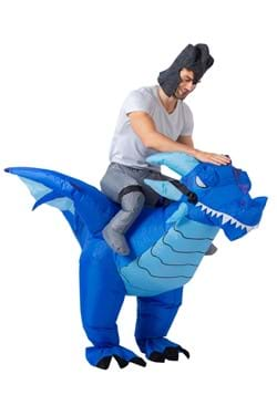 Inflatable Adult Blue Dragon Ride On Costume