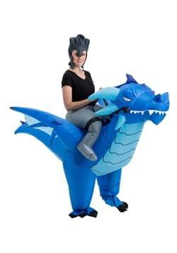 Inflatable Adult Blue Dragon Ride On Costume Alt 3