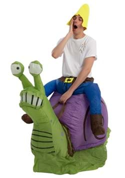 Inflatable Adult Grumpy Snail Ride-On Costume