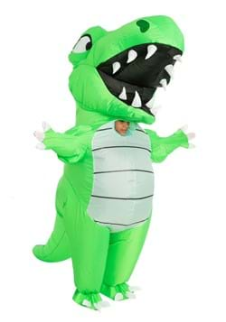 Inflatable Adult Green Dino Costume