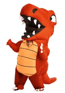 Inflatable Kids Red Dino Costume upd