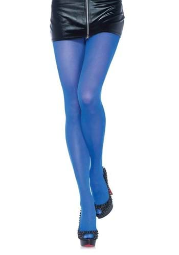 Womens Blue Nylon Opaque Tights upd