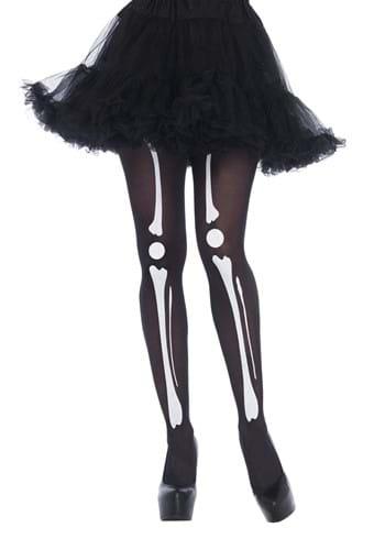 Skeleton Bone Black Tights