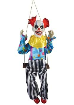 Animated Hanging Clown on a Swing