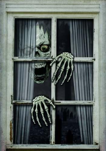 47 Fake Window Skull Hands