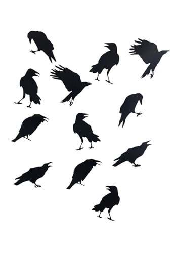12 Crow Sticker 12 Piece Set