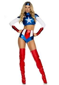 Women's Pretty Patriot Costume