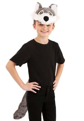 Wolf Plush Headband & Tail Kit
