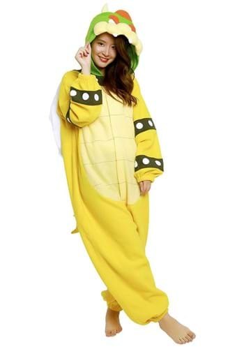 Super Mario Brothers Bowser Kigurumi Costume for Adults