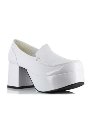 Mens White Daddio Pimp Shoes