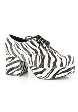 Mens Zebra Hologram Pimp Shoe