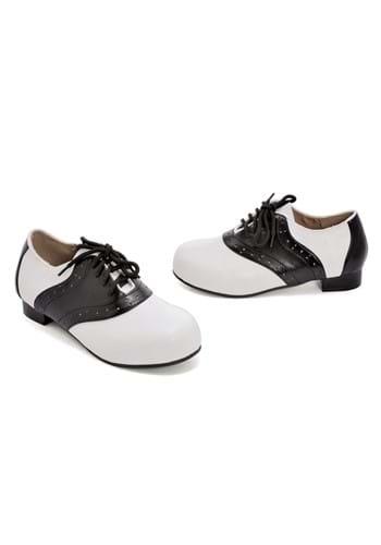 Girls Black and White Saddle Shoes