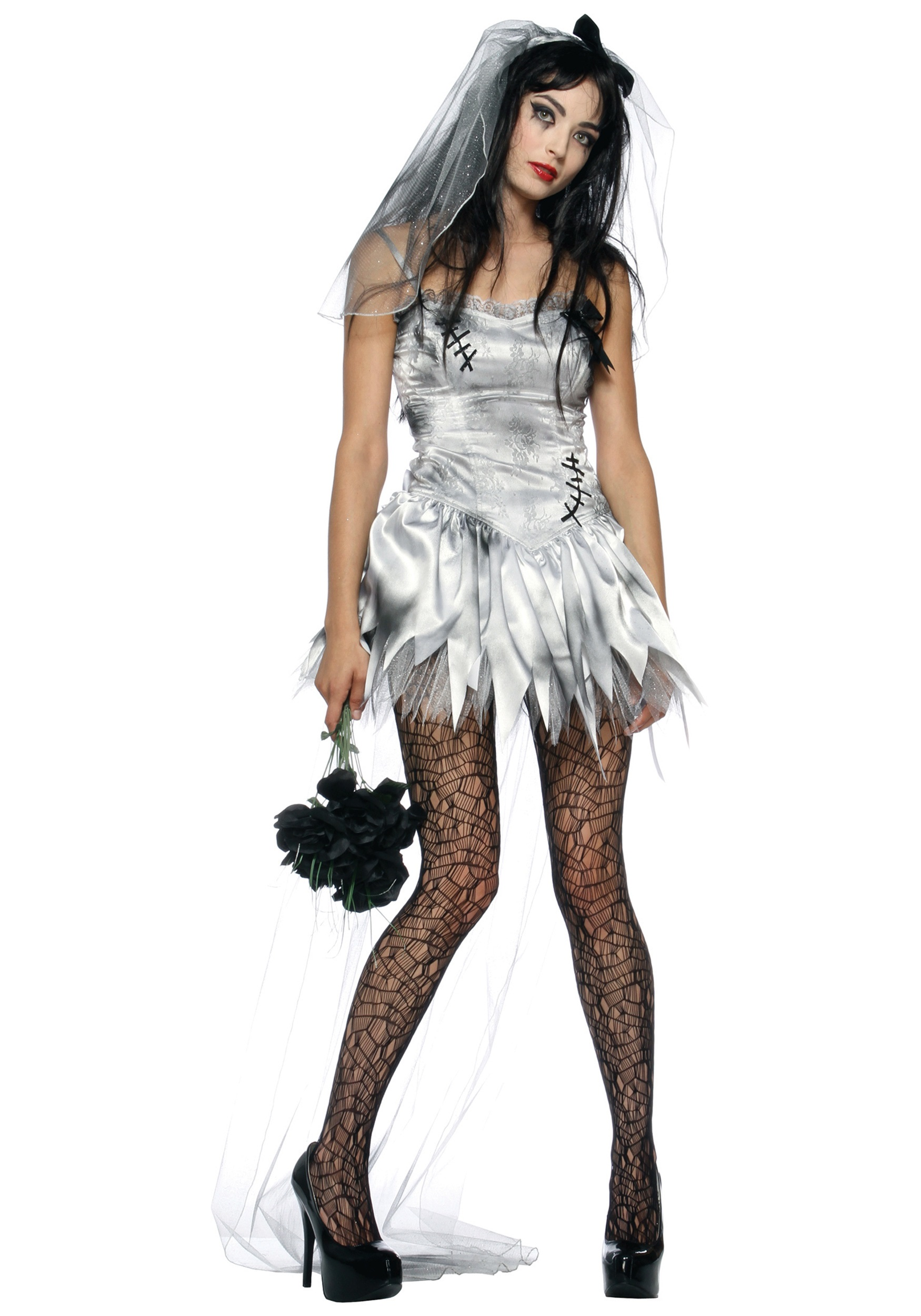 Halloween Zombie Costumes For Girls.Sexy Zombie Bride Costume