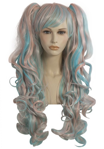 Long Multi Colored Candy Wig By: Lip Service for the 2015 Costume season.