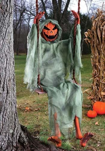 5 Ft Swinging Dead Pumpkin Decoration-1-1