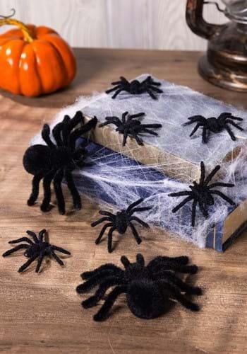 Fuzzy Black Spiders
