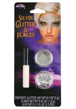 Silver Flakes and Glitter Makeup Kit