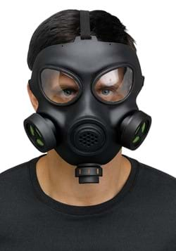Adult Costume Gas Mask with Toy Respirator