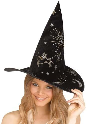 Black Constellation Witch Hat