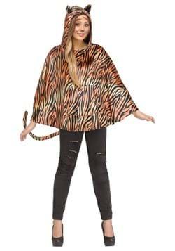 Womens Tiger Poncho