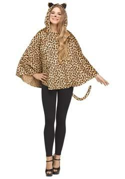 Womens Leopard Poncho