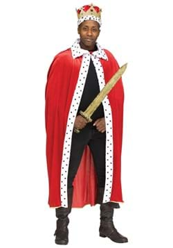 Adult Red King Cape and Crown Set