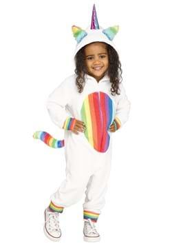 Toddler Girls Rainbow Unicorn Costume