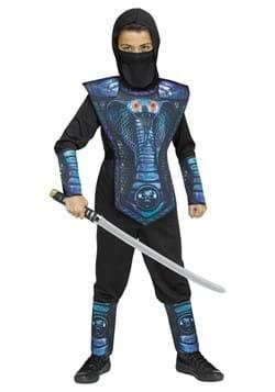 Kids Blue Cobra Ninja Costume