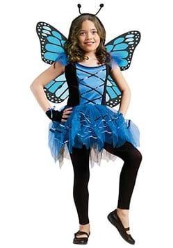 Girls Blue Butterfly Costume