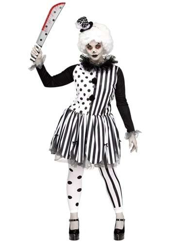 Womens Plus Size Killer Clown Costume
