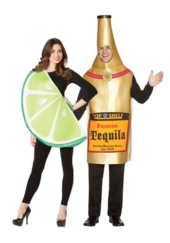 Tequila Bottle and Lime Slice Couples Costume
