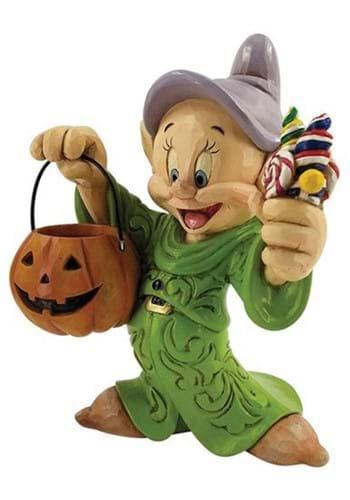 Disney Jim Shore Dopey Halloween with Pumpkin Statue
