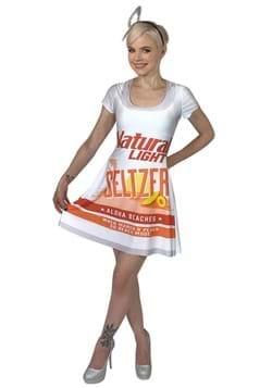 Natural Light Seltzer Aloha Beaches Skater Dress Costume