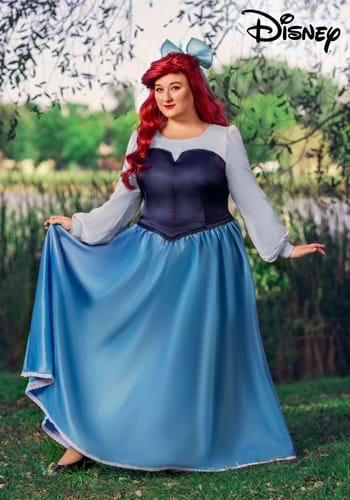 Plus Size Ariel Blue Dress Costume-2