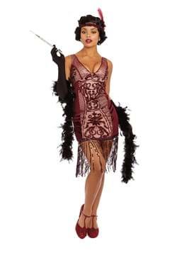 Women's Red Vava Voom Flapper Adult Costume