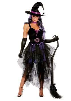 Womens Sexy Purple Witch