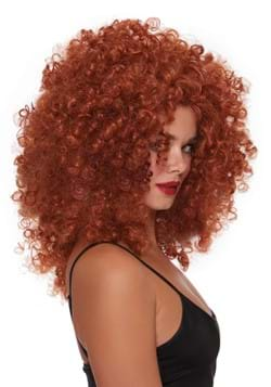 Womens Red Curly Wig